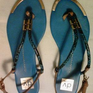 Dolce Vita Dania metallic gold accent sandals